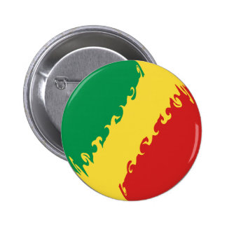 Congo-Brazzaville Gnarly Flag Buttons