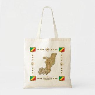 Congo-Brazzaville Map + Flags Bag