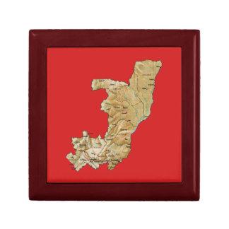 Congo-Brazzaville Map Gift Box