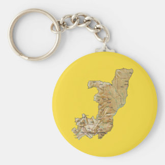 Congo-Brazzaville Map Keychain