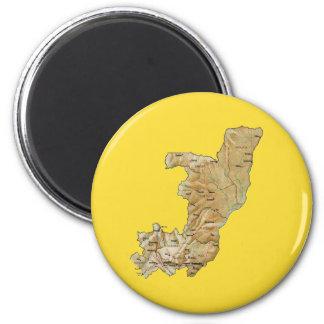 Congo-Brazzaville Map Magnet
