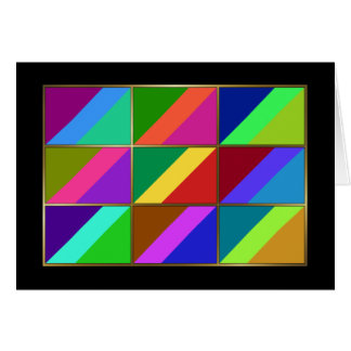 Congo-Brazzaville Multihue Flags Greeting Card