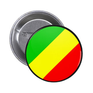 Congo Brazzaville quality Flag Circle Pinback Buttons