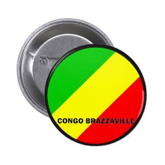 Congo Brazzaville Roundel quality Flag Pin