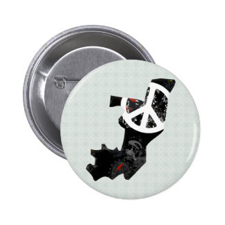 Congo Brazzaville Trendy Peace Sign with Congolese Pin