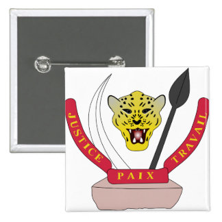 Congo Coat of Arms detail Pinback Button