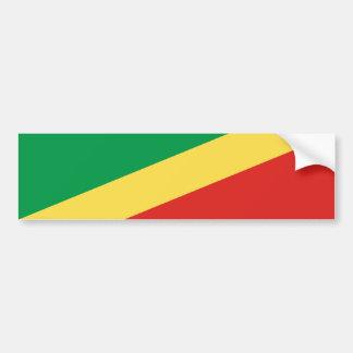Congo/Congolese Brazzaville Flag. Republic of the Bumper Sticker