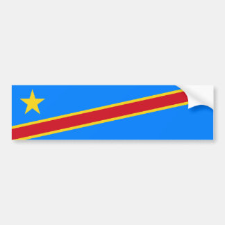 Congo/Congolese Kinshasa Flag. Democratic Republic Bumper Sticker