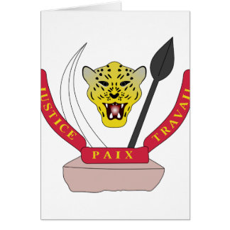 congo democractic emblem card
