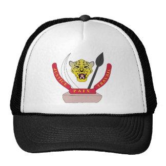 congo democractic emblem mesh hats