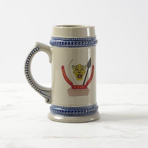 congo democractic emblem mugs