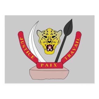 congo democractic emblem postcard