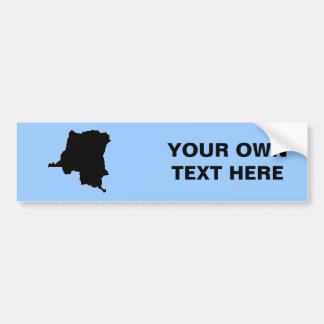 CONGO, DEMOCRATIC REPUBLIC BUMPER STICKER