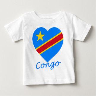 Congo Democratic Republic Flag Heart Baby T-Shirt