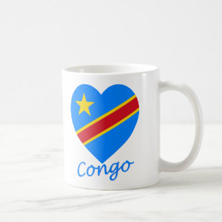 Congo Democratic Republic Flag Heart Coffee Mug