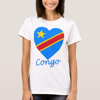 Congo Democratic Republic Flag Heart T-Shirt