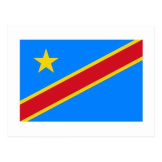 Congo Democratic Republic Flag Postcard