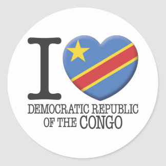 Congo, Democratic Republic of the Classic Round Sticker