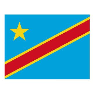 Congo (DR) Flag Postcard
