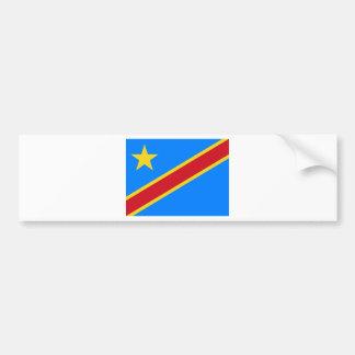 Congo flag CD Bumper Sticker