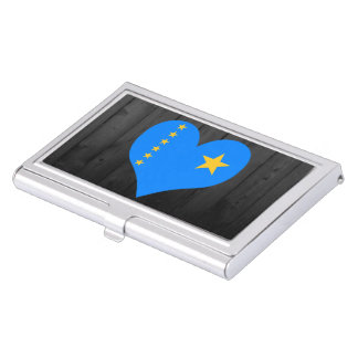 Congo flag colored case for business cards