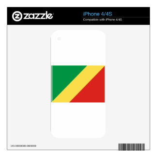 Congo Flag Decal For The iPhone 4