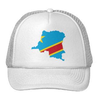 Congo Flag map  CD Trucker Hat