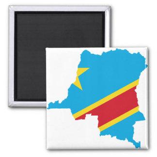 Congo Flag map  CD Refrigerator Magnet