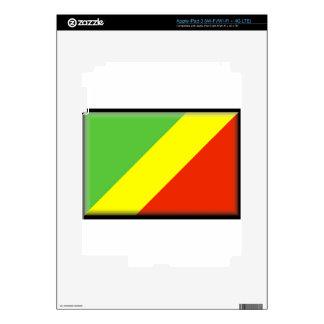 Congo Flag iPad 3 Decal
