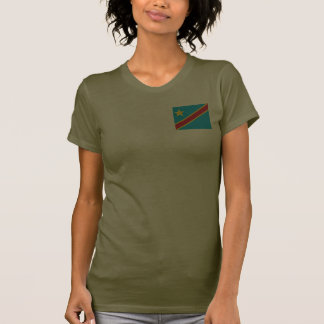 Congo-Kinshasa Flag and Map dk T-Shirt