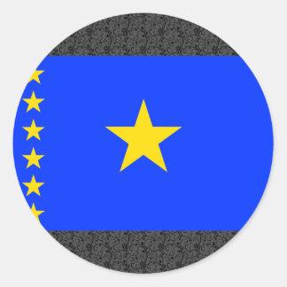 Congo Kinshasa Flag Classic Round Sticker