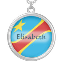 Congo-Kinshasa Flag   Name Necklace