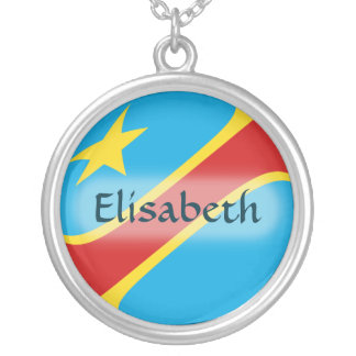 Congo-Kinshasa Flag + Name Necklace