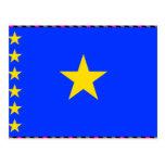 Congo Kinshasa Flag Postcard