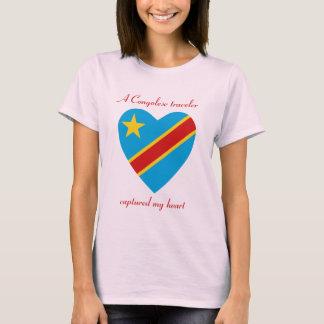 Congo-Kinshasa Flag Sweetheart T-Shirt
