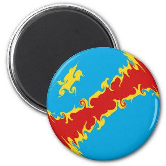 Congo-Kinshasa Gnarly Flag Magnet