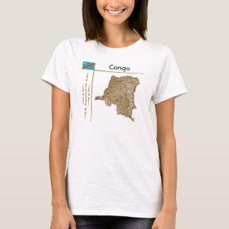 Congo-Kinshasa Map + Flag + Title T-Shirt