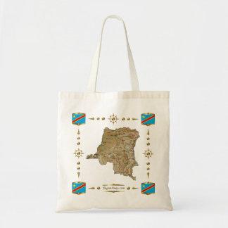 Congo-Kinshasa Map + Flags Bag