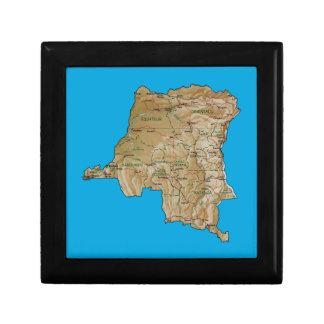 Congo-Kinshasa Map Gift Box