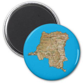 Congo-Kinshasa Map Magnet