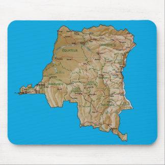 Congo-Kinshasa Map Mousepad