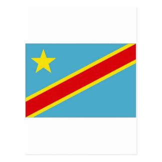 Congo Kinshasa National Flag Postcard