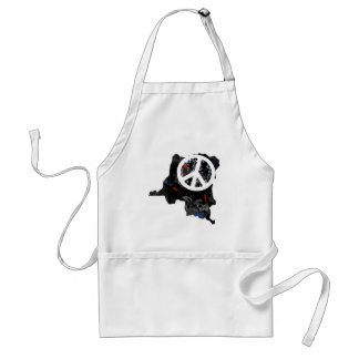 Congo Kinshasa Trendy Peace Sign with Congolese ma Adult Apron