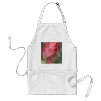Congo Pink Abstract Low Polygon Background Adult Apron