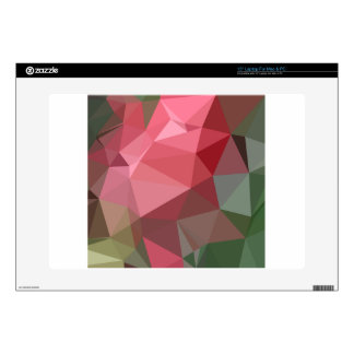 """Congo Pink Abstract Low Polygon Background Decal For 15"""" Laptop"""