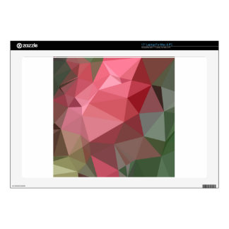 """Congo Pink Abstract Low Polygon Background Decal For 17"""" Laptop"""