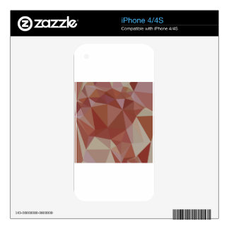 Congo Pink Abstract Low Polygon Background Decal For The iPhone 4