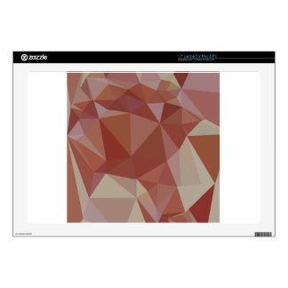 Congo Pink Abstract Low Polygon Background Laptop Decal