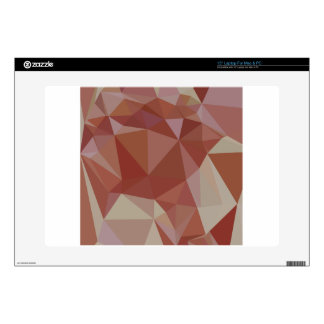Congo Pink Abstract Low Polygon Background Laptop Skin