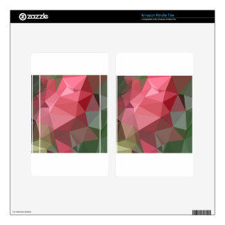 Congo Pink Abstract Low Polygon Background Skins For Kindle Fire